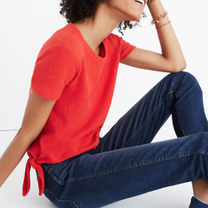 Madewell Verse Tie Back Top in spiced rose